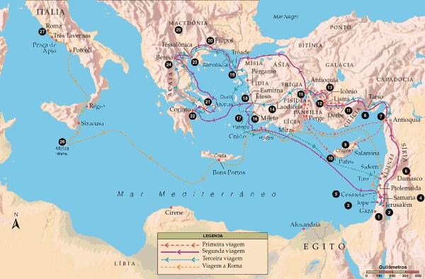 Viagens Missionárias de Paulo de Tarso